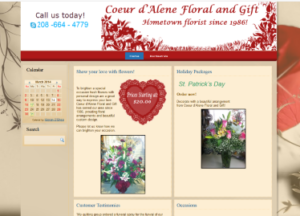 Coeur d'Alene Floral and Gifts (former client)